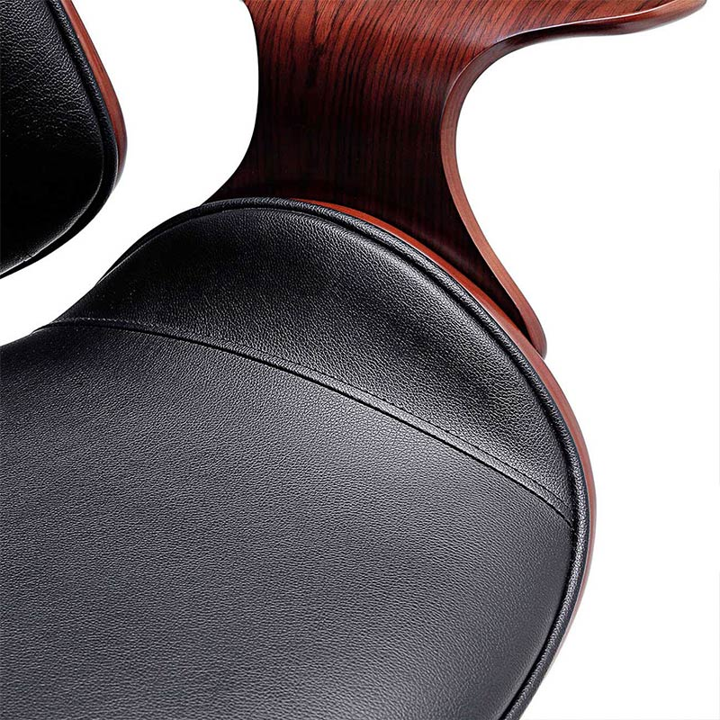 schwarz-braun-Sadie-Design-Stuhl-Retro-Büro-Hocker-Esszimmerstuhl-Vintage-Bürostuhl-Kunstleder10