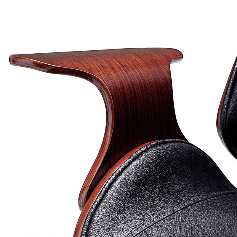 schwarz-braun-Sadie-Design-Stuhl-Retro-Büro-Hocker-Esszimmerstuhl-Vintage-Bürostuhl-Kunstleder11