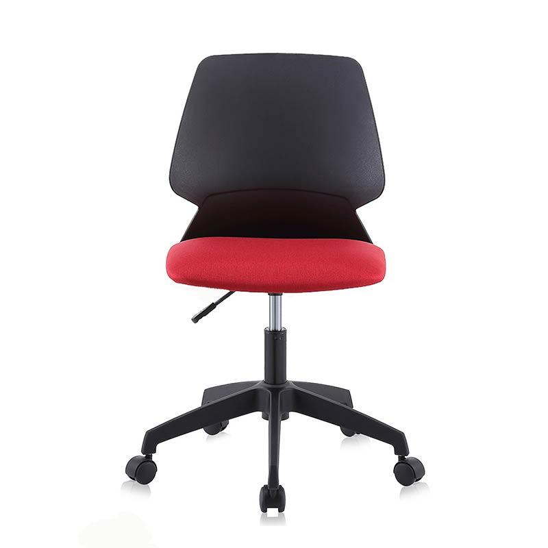 Chefsessel-Schreibtischstuhl-Drehstuhl-Design-Stoff-Stuhl-Schwarz-Rot